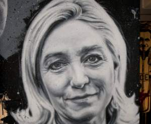 Marine Le Pen drawing
