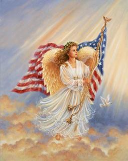 angel in flag